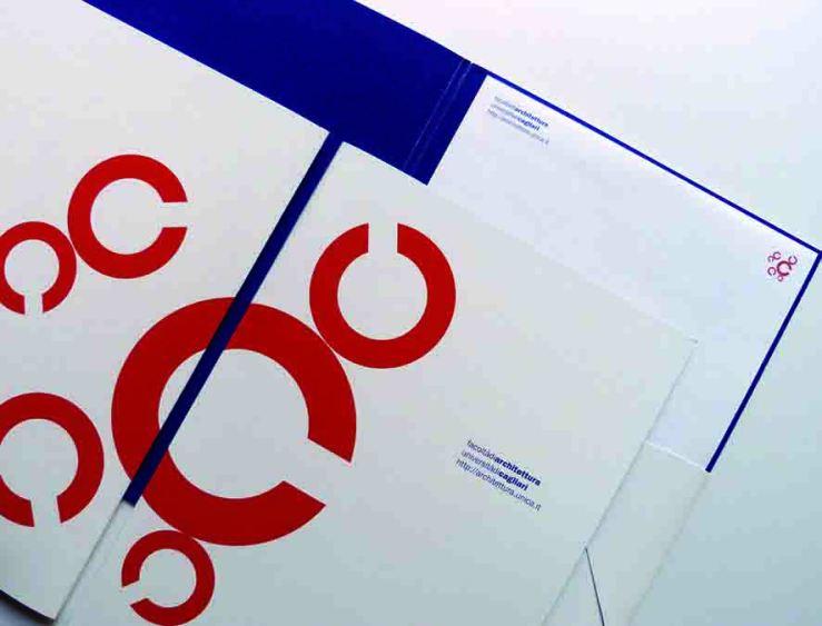 27. facoltà di architettura logo and stationery